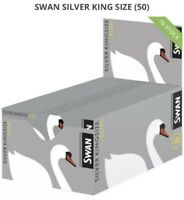 Swan Silver  king size slim rolling papers cigarette papers sealed box 50 packs
