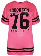 New Womens Neon Pink Airtech Sports T-Shirts 8-26