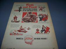 """VINTAGE..1946 FORD """"V-8 ENGINE""""..ORIGINAL SALES AD...(265V)"""