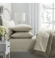 Hotel Premier 650 Thread Count Egyptian Cotton, Striped in Fossil, 6 Piece Set
