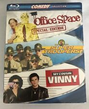 Comedy Blu-Ray 3-Pack Box Set: Office Space/ Super Troopers/ My Cousin Vinny NEW