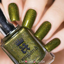 A England - Premium Nail Polish - FOTHERINGHAY CASTLE - Olive Green Gold Shimmer