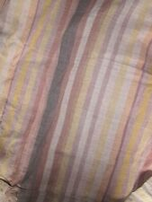 Vintage 1960's / 70's Indian Woven Cotton Throw / Cover