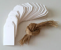 LOT 25 ÉTIQUETTE TAGS BLANCHE + FICELLE SCRAP SCRAPBOOKING SCRAP CADEAU MARIAGE