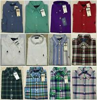 NWT Polo Ralph Lauren Mens Oxford Button Down Shirts Classic Fit Long Sleeve