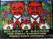 Gilbert and George     2019 SIGNED SWEDISH ART EXHIBITION POSTER #1