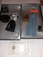 "LOT of 2 Franklin Mint Harley Davidson DAKOTA 16"" Doll Outfit Ensembles NRFB"