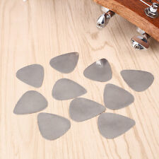 10Pcs Stainless Steel Metal Picks Plectrums for Guitar Supplies Silver