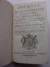 Journal de la Préf. du département de la Sarthe, 1806