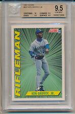 1991 Score Ken Griffey Jr. (Rifleman) (#697) (10 Centering/3-9.5's) BGS9.5 BGS