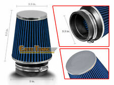 "BLUE 3.5"" Inlet Cold Air Intake Cone Dry Type Narrow FILTER For Subaru/Scion"