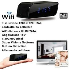 SVEGLIA SPIA WIFI 3G WIRELESS TELECAMERA SPY CAM NIGHT VISION NASCOSTA CW147