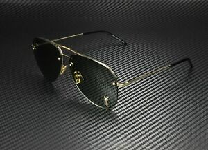SAINT LAURENT YSL Classic 11 M 003 Shiny Gold Solid Green 59mm Unisex Sunglasses
