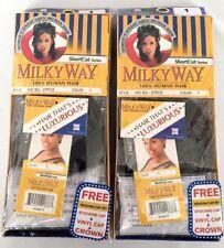 Weavingbonding short hair extensions ebay brand new lot of 2 milky way 27pcs jet black 1 100 human hair pmusecretfo Image collections