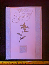 In The Loss Of Your Daughter With Sympathy Card & Envelope New