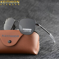 Fashion Polarized Mens Sunglasses Driving Sports Alloy Square Eyewear With box