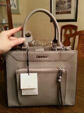 Calvin Klein genuine saffiano leather tote, color smoke