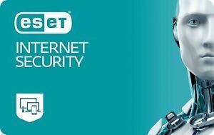 ESET Internet Security Antivirus   1 Year   1 MAC OR PC   ACTIVATION KEY   FAST