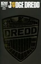 JUDGE DREDD ISSUE 1 - RARE GOLD FOIL BADGE SUBSCRIPTION COVER - IDW COMICS