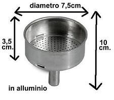 RICAMBIO CAFFETTIERA, IMBUTO IN ALLUMINIO, COFFEE MACHINE PARTS, ALUMINUM FUNNEL