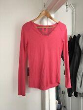 Fat Face Size Uk 10 Long Sleeve Pink Top.   (b9)