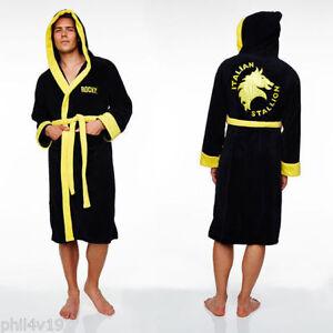 Rocky Balboa Dressing gown / Mens Boxing bathrobe bath robe (Italian stallion)