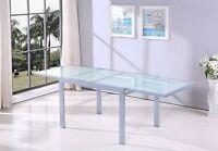 Tavolo Allungabile in Vetro TEMPERATO Elegante Moderno 90X90 120X90 BIANCO O GRI