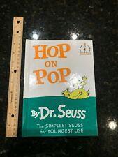 """Hop on Pop Dr. Seuss beginner hardcover book 14 6.75""""x 9.25"""""""