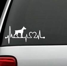 K1142 Doberman Pinscher Heartbeat © Dog Decal Sticker Car Truck Suv Van Laptop