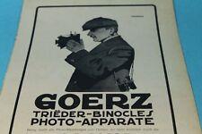 Goerz - Photo Apparate - Reklame auf Papier - Orig. Blatt von 1909     /S189