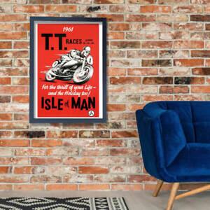 Isle Of Man TT Motorcycle Racing Poster Wall Art Poster Print