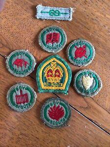Vintage Boy Scout Cloth Badges UK 8 Badges