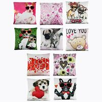 UK Valentine's Day Pillow Case Linen Sofa Cushion Cover Home Decor Love Heart UK