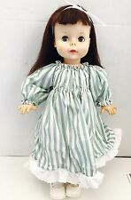 "1961 Vtg 18"" Effanbee Susie Sunshine Doll Brunette/green Eyes Freckles"