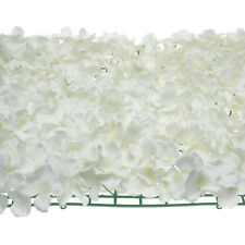 Artificial Silk Hydrangea Flower Mat, Yellow, 24-Inch