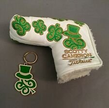 2011 Scotty Cameron St. Patricks Day Dancing SC Clovers - White w/ Key Chain