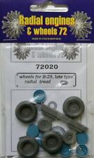 Radial Engines and Wheels 1/72 Boeing B-17/B-24/B-29A Wheels Late - Radial Tread