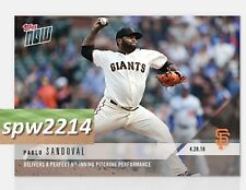 2018 Topps Now Pablo Sandoval #140 Perfect Pitching Performance