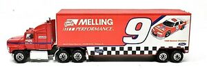 RARE MATCHBOX #9 MELLING BILL ELLIOT 1991 1:87 RACING TEAM TRANSPORTER SCARCE