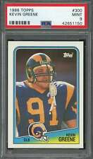 1988 topps #300 KEVIN GREENE los angeles rams rookie card PSA 9