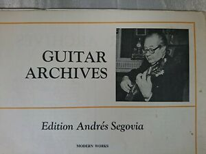 Giuliani Mauro OP 48 Guitar Archives Andres Segovia GA 32 Schott 1926 27 Pages
