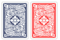 New COPAG Legacy Red Blue 100% Plastic Playing Cards Poker Jumbo FREE CUT