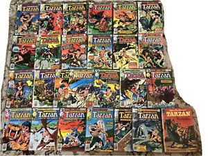 TARZAN LORD OF THE JUNGLE LOT 1-24, ANNUAL# 2 MARVEL COMICS1977-1979 BRONZE AGE