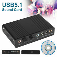 Channel 5.1 Optical SPDIF Sound Card USB Audio Output Adapter External for PC.