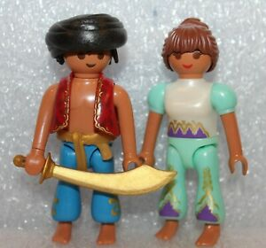 "Playmobil Knight "" Aladin & Jasmin "" Knight Pirates Roman Egyptians"
