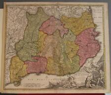 CATALONIA SPAIN 1720 JOHANN BAPTIST HOMANN ANTIQUE ORIGINAL COPPER ENGRAVED MAP