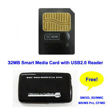 32Mb Smart Media Sm Card for Old camera storage card SmartMedia with Reader