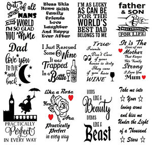 12 Various Wine Bottle Stickers Vinyl Decal Silhouette Wall Glass Arts & Craft