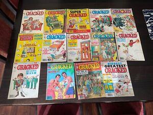 Classic 14 various CRACKED Comics Magazines 1980-1982