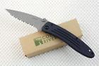 CRKT 7023 Apache pocket knife Full Serrated edge ATS-34 Discontinued RARE NIB